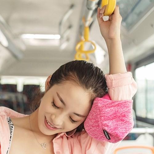 애니 올인원 낮잠 숙면 여행용 기내용 눈가리개 안대 목베개