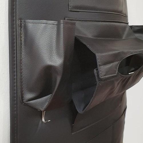 차량용 뒷자석 수납함 가죽 포켓 시트보호