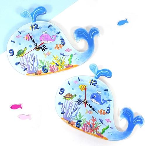 만들기 고래 벽시계 5인용 (시계부품 포함)