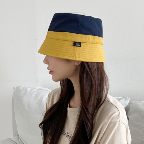 방수 캠핑 벙거지 모자 남녀공용 유니크 면 배색 여름 버킷햇