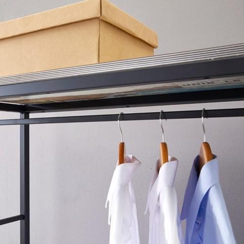 블린홈 3단 800 철재 옷걸이 드레스룸 시스템 행거