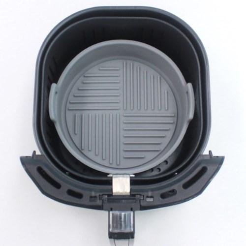 실리콘 에어프라이어 원형 용기 그릇 대 21cm 1개