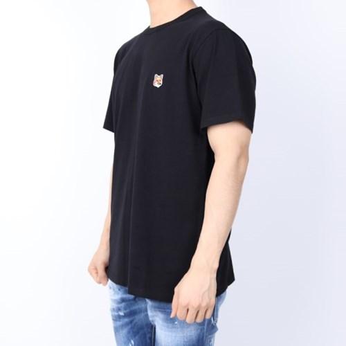 21FW 메종키츠네 폭스헤드 패치 티셔츠 (남성/블랙) AM00103KJ0008 B