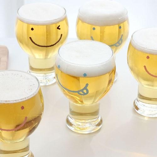 스마일 와글와글 맥주컵 6P