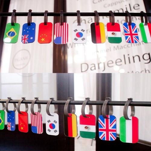 세계 국기 네임텍 L (커스텀형)