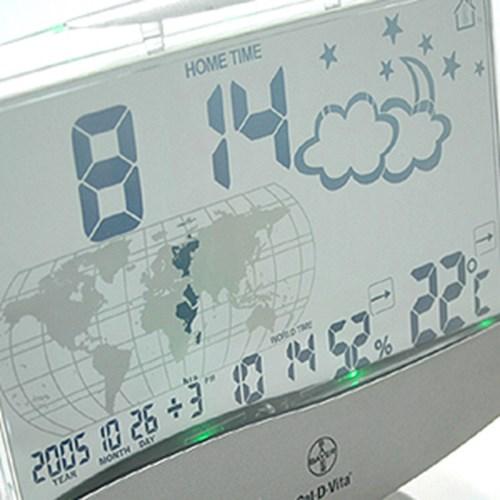 maxes 대형 투명탁상 월드타임시계
