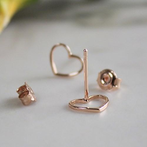 홀 하트 로즈 귀걸이 hole heart rose earring