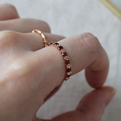 가넷 라인 반지(1월탄생석)garnet line ring