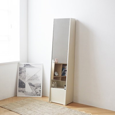 [두닷모노] 루나 전신거울 화장대 (오크/아이보리)