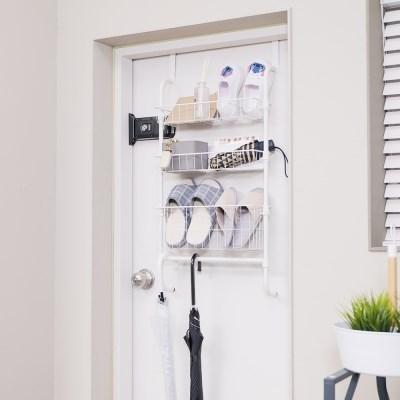 이지홈 문에착 3단 / 문걸이 수납 선반 행거 정리함 욕실선반 주방선