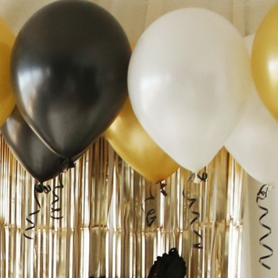 홈파티장식-생일파티 풍선세트(블론드블랙)