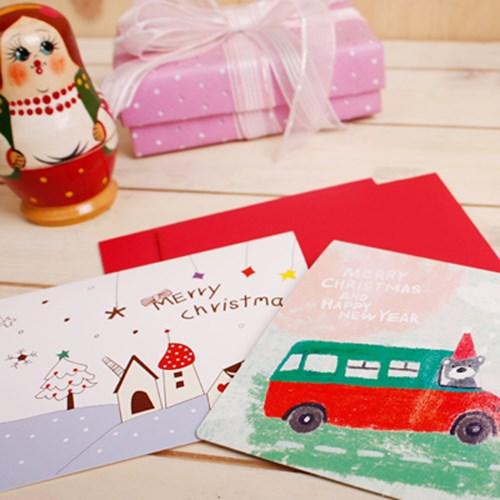 2700 러블리 크리스마스 카드 3종 세트