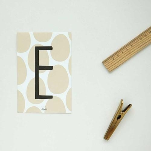 Alphabet post card