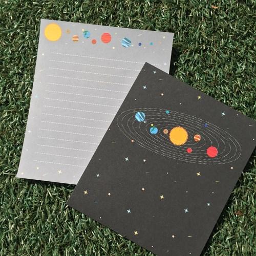 우주 미니편지지 시리즈