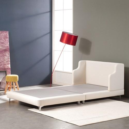 D.코지 슈퍼싱글(SS)디자인침대 프레임+낮은깔판+레드쿠션