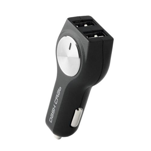 [대쉬크랩]정품 초고속 차량용충전기 5A 듀얼2포트 (블랙)