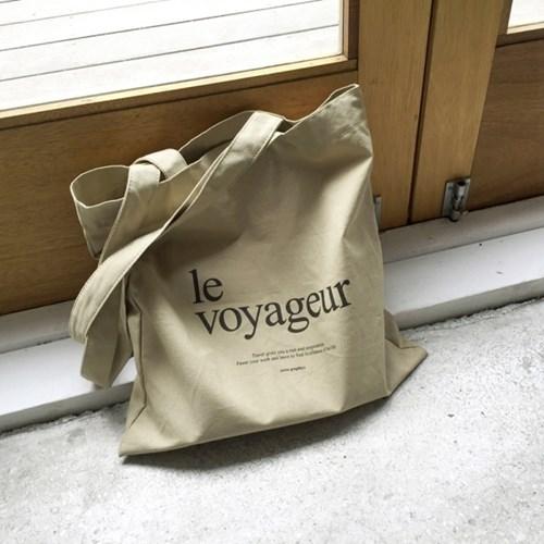 le voyageur_eco bag - BEIGE