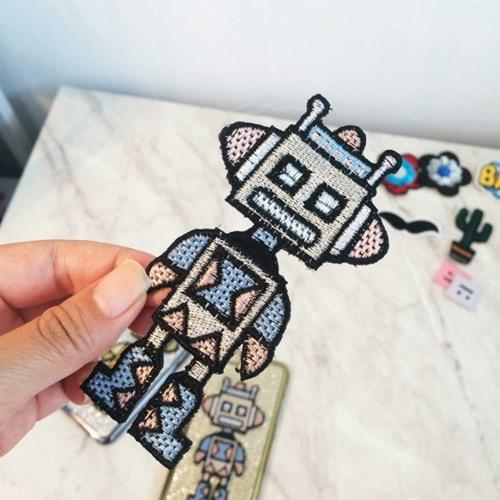 디지털 로봇 와펜스티커