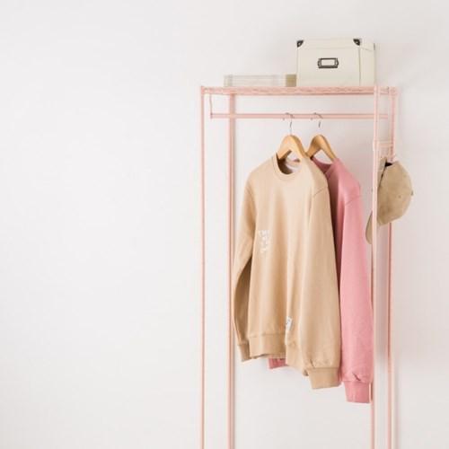 [ONLY 10x10]3560 클로젯 메탈행거 4단 핑크 악세서리