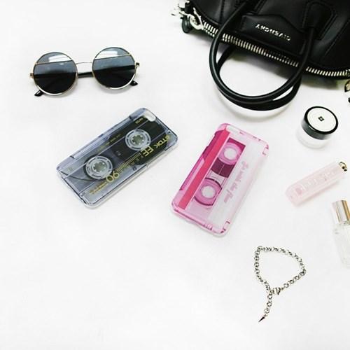 Vintage mood tape_Black 빈티지 테이프 블랙 투명 젤리 케이스