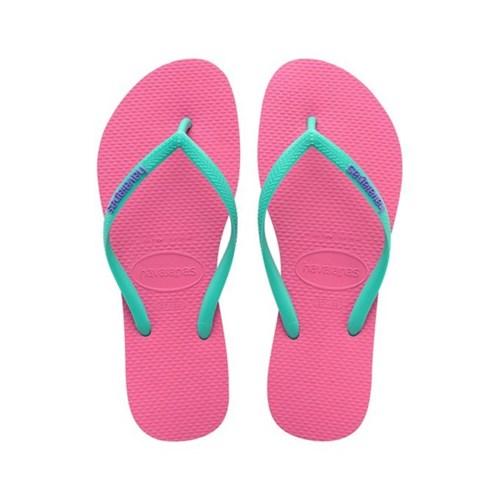 [havaianas 하바이아나스] SLIM LOGO POP-UP Shocking Pink