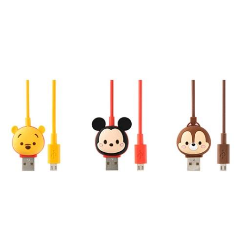디즈니 썸썸 5핀 타입C 애플인증 8핀 케이블