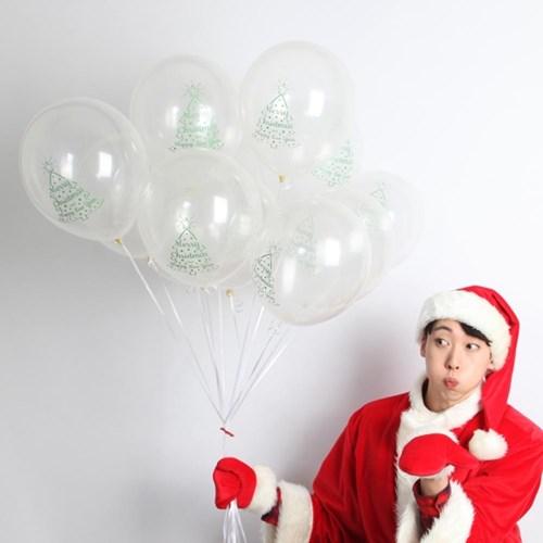 크리스마스풍선30cm - 트리(투명)