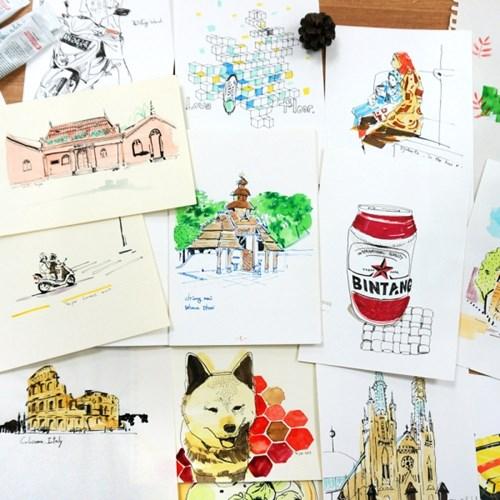 [텐텐클래스] (마포) 추억을 만드는 여행 드로잉