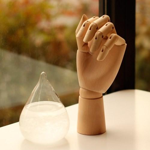 우드토이 손 모양 구체관절 목각 인형
