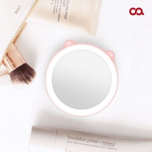 오아 미니 블링 휴대용 LED 거울 보조배터리