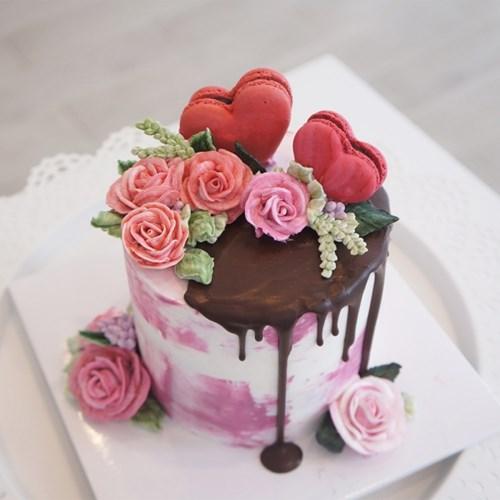 [텐텐클래스] (김포) 사랑 가득한 버터크림 플라워 케이크