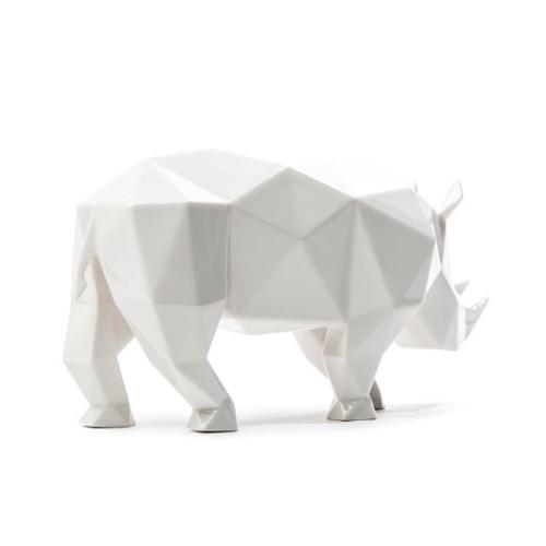 코뿔소 도자기 미니어쳐
