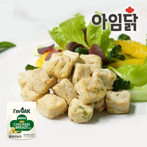 [아임닭] 한입 간편 닭가슴살 미니큐브 60g 4종 1+1팩