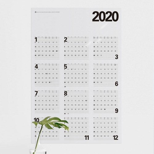 투명 포스터달력 2019