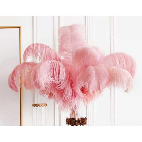 핑크 오스타리치 깃털
