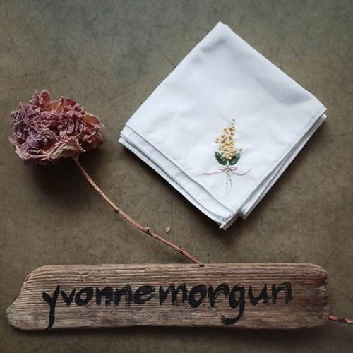 소녀감성 프랑스자수 미모사 꽃 손수건 만들기 DIY KIT