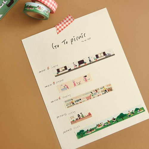 [한정] Masking tape 10p set - 02 Go to picnic