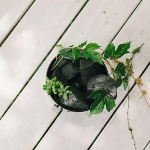 실리브 블랙히드라 삼발이 숯화분 블랙(대)-공기정화,습_(100705452)