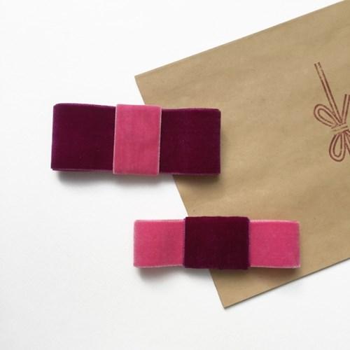 velvet hairpin (벨벳 사각똑딱핀)