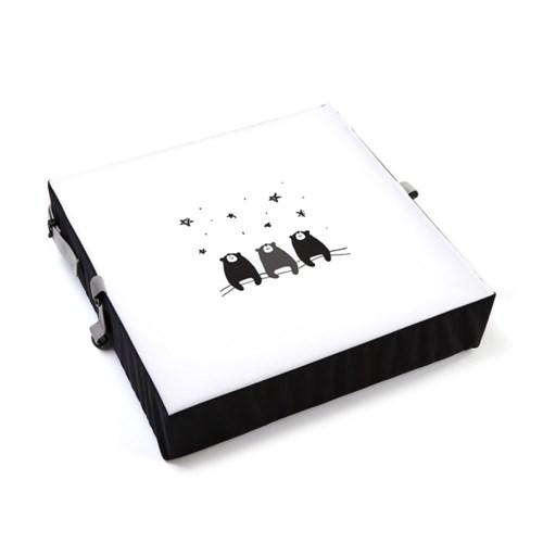 하쥬르 키높이 유아 어린이 식탁 의자 방석 (2중안전장치) - 8종