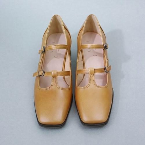 흰_Strap Shoes_Yellow Ocher