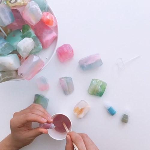 하비인더박스 탄생석모양 수제비누 만들기 KIT