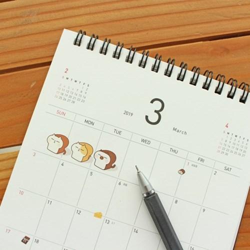 2019 빵냥 탁상용 캘린더
