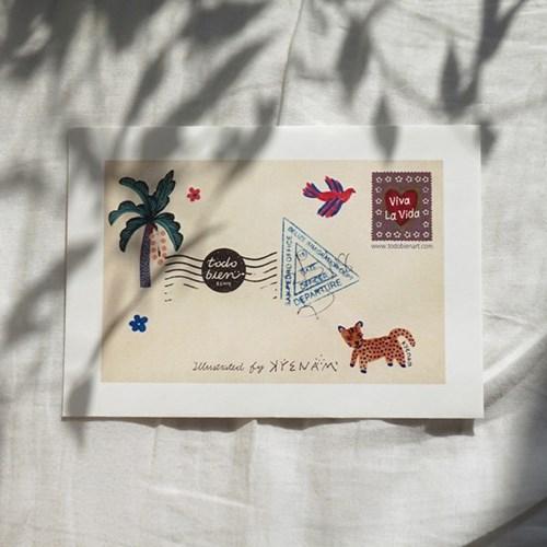여행엽서세트7(중미)_엽서9장+봉투1장(멕시코,과테말라,벨리즈)