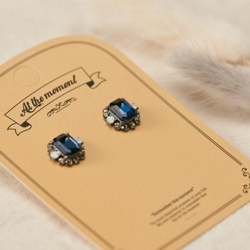 엔틱 블루사파이어 귀걸이