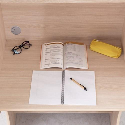 [e스마트] 표준형 독서실책상+LED스탠드_(11601134)