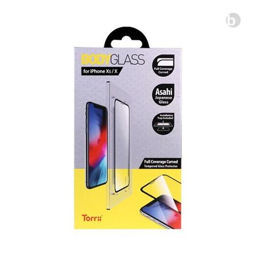 위시비 토리 아이폰XS XSMAX XR 풀커버 3D 강화유리 장착툴 포함
