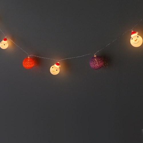 코튼볼&눈사람 LED 전구(20구)