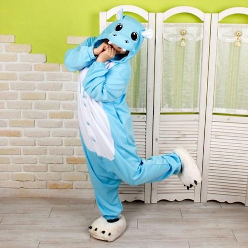 사계절 동물잠옷 하마 (블루)