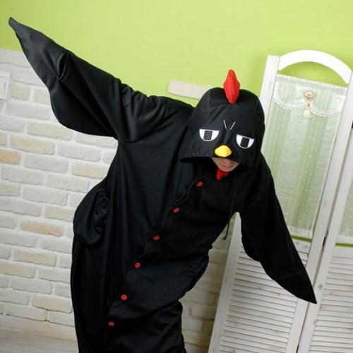 사계절 동물잠옷 닭 (블랙) / 오골계